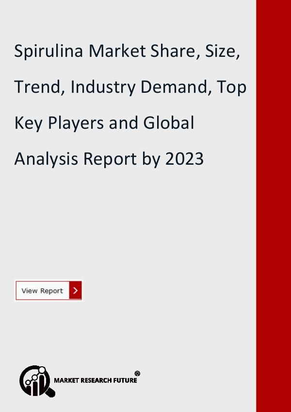 Market Research Future (Food and Beverages) Spirulina Market estimated to Grow at CAGR of 8.02
