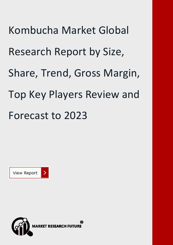 Kombucha Market Research Study, Size, Emerging
