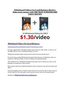 Whiteboard Videos For Local Business Review-TRUST about Whiteboard Videos For Local Business and 80% discount