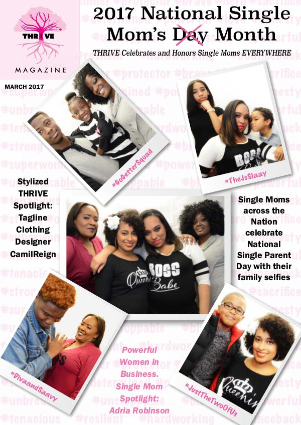 THRIVING Melanin Family Magazine March 2017: National Single Parent Month