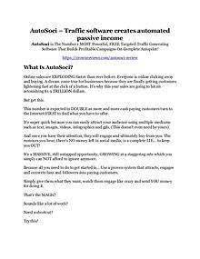 AutoSoci Review & (Secret) $22,300 bonus NOW