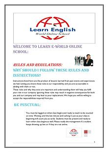 Rules and Regulations - Learn English World Online School
