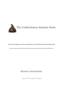 The Confectionery Industry News July 15 to 21, 2013
