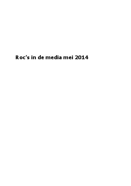 roc's in de media mei 2014