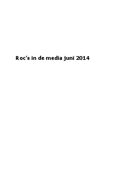 roc's in de media juni 2014
