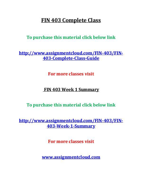 uop fin 403,uop fin 403,uop fin 403 entire course,uop fin 403 entire FIN 403 Complete Class