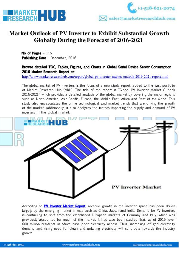 Market Research Report Market Outlook of PV Inverter Growth