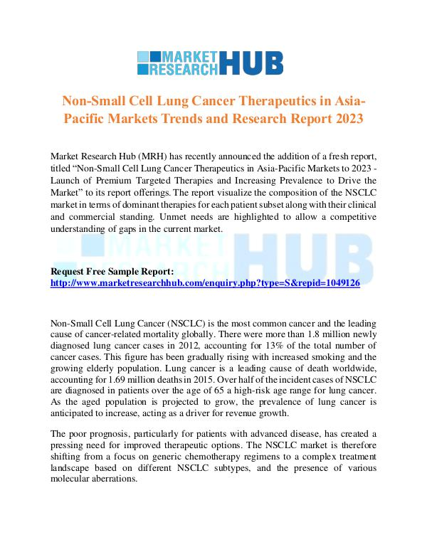 Market Research Report Non-Small Cell Lung Cancer Therapeutics Market