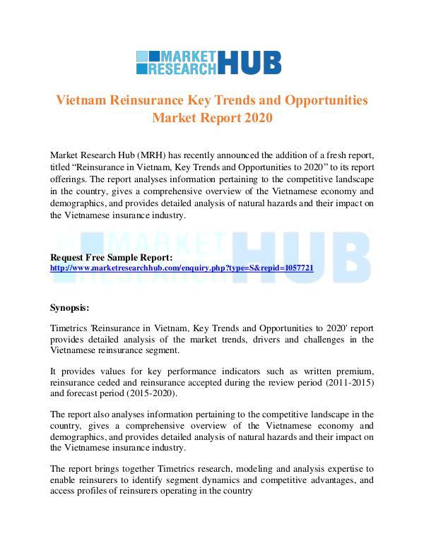 Market Research Report Vietnam Reinsurance Key Trends Market Report