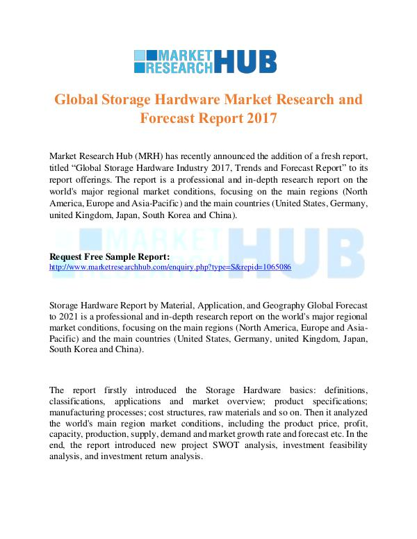 Market Research Report Storage Hardware Market Research and trends Report