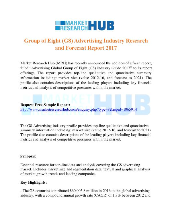 Market Research Report G8 Advertising Industry Research & Forecast Report