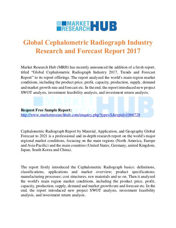 Market Research Report Cephalometric Radiograph Industry Research Report