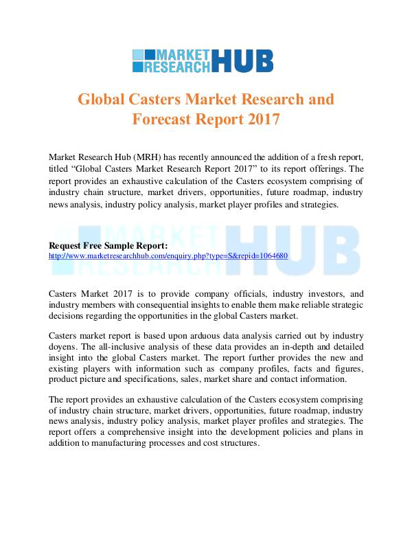 Market Research Report Global Casters Market Research and Forecast Report