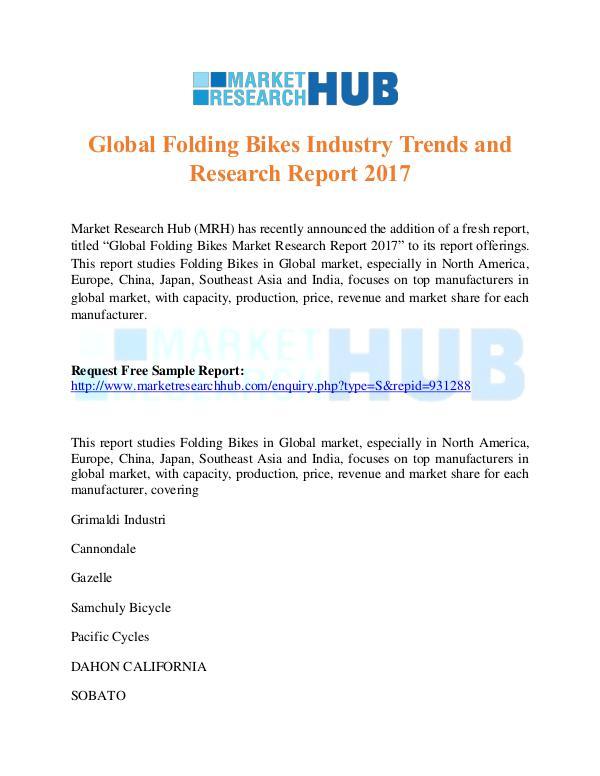 Global Folding Bikes Industry Trends Report