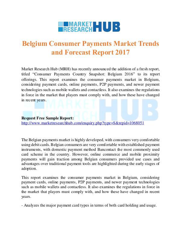 Belgium Consumer Payments Market Trends Report