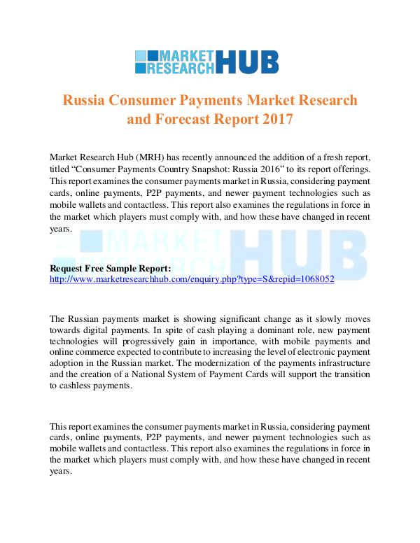Market Research Report Russia Consumer Payments Market Research Report