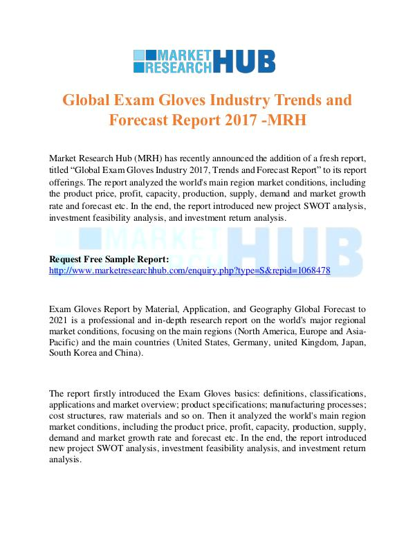 Global Exam Gloves Industry Trends Report 2017