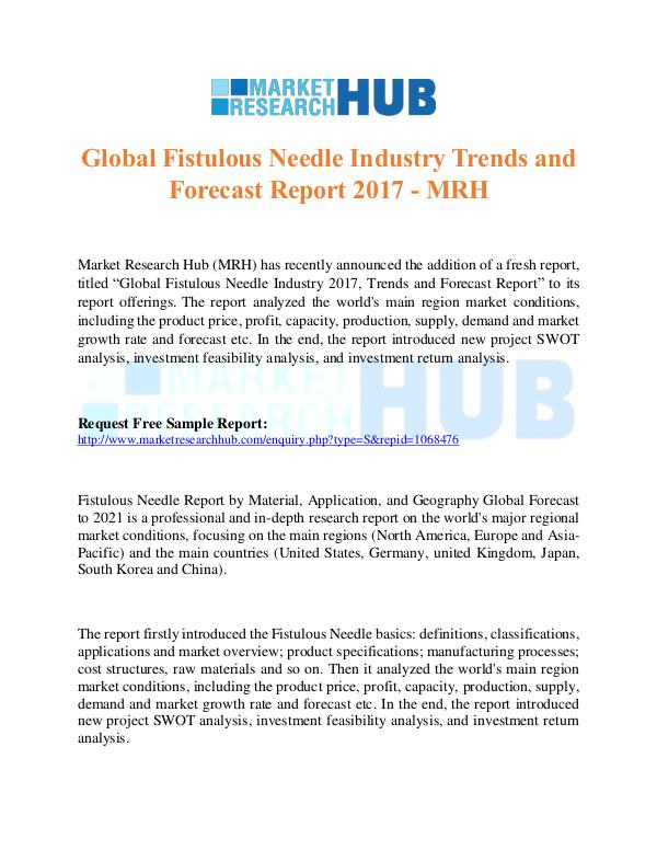 Market Research Report Global Fistulous Needle Industry Trends