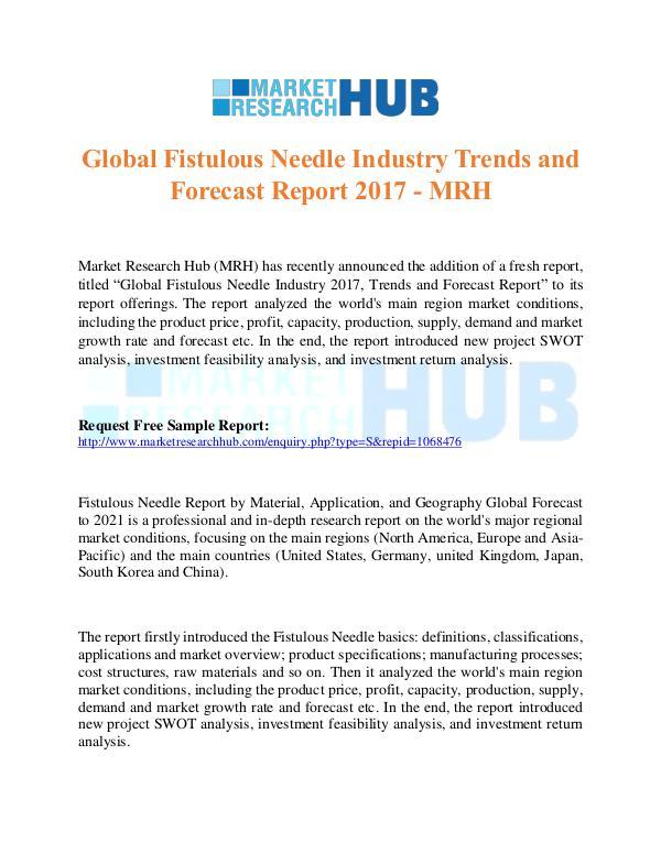 Global Fistulous Needle Industry Trends