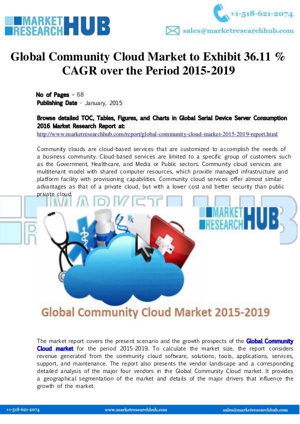 Market Research Report Global Community Cloud Market to Exhibit 36.11 % C