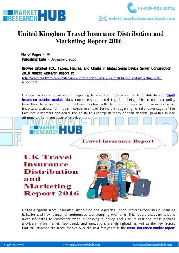 Market Research Report United Kingdom Travel Insurance Distribution