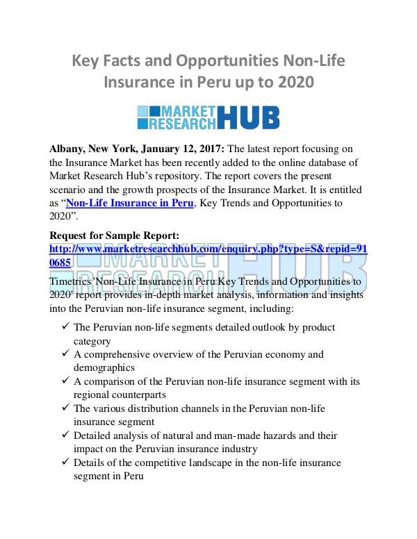Market Research Report Non-Life Insurance in Peru Market Research Report