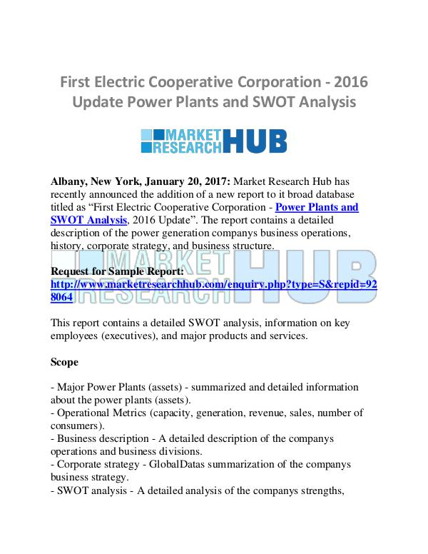 Market Research Report Power Plants and SWOT Analysis Market Report