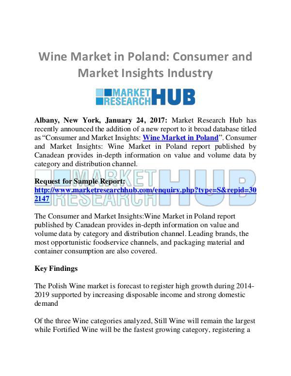 Market Research Report Wine Market in Poland Market Report