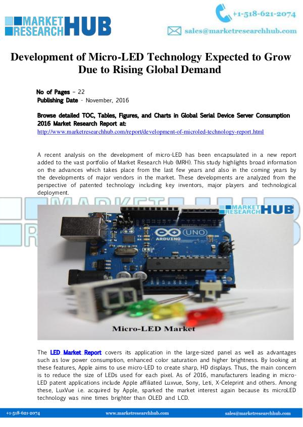 Market Research Report Micro-LED Technology Market Report