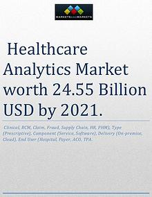 The healthcare analytics market is expected to reach USD 24.55 Billio