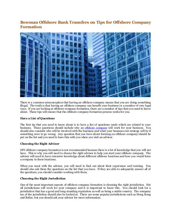 Winema Gaven Bowman Offshore Bank Transfers