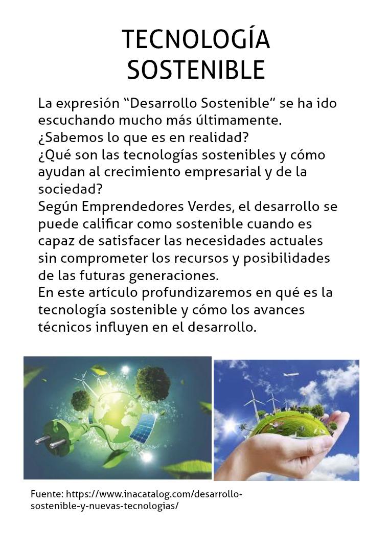 Blog - Tecnología Sostenible Medio Ambiente 10°