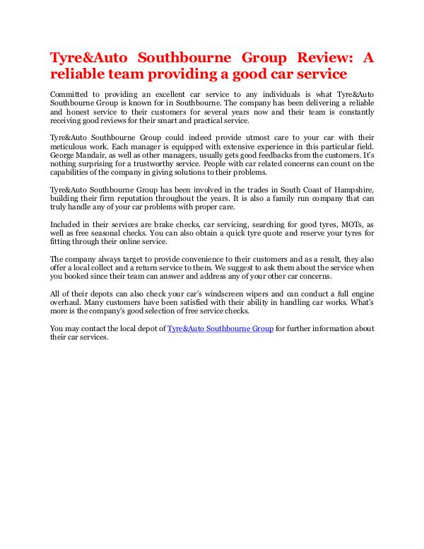 A reliable team providing a good car service