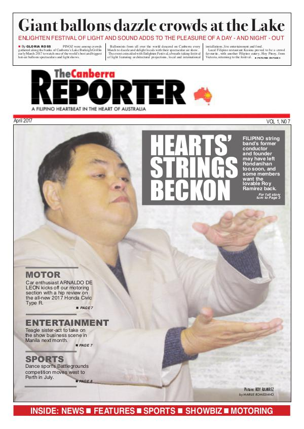 The Canberra Reprter The Canberra Reporter APRIL2017