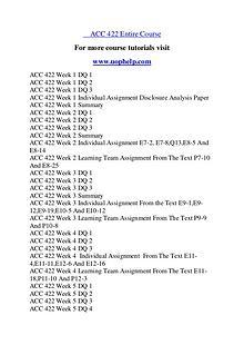 ACC 422 Expect Success/uophelp.com