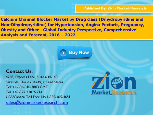 Calcium Channel Blocker Market, 2016 – 2022