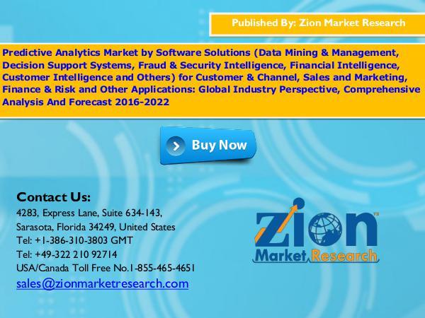 Predictive Analytics Market, 2016 – 2022