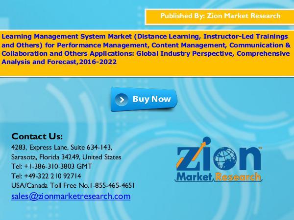 Learning Management System Market, 2016 – 2022