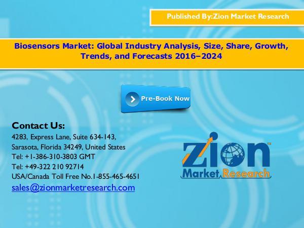 Biosensors Market to witness increasing growth, Gl