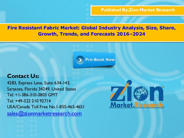 Zion Market Research Fire Resistant Fabric Market, 2016–2024