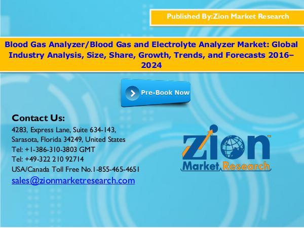 Blood Gas Analyzer Market, 2016–2024