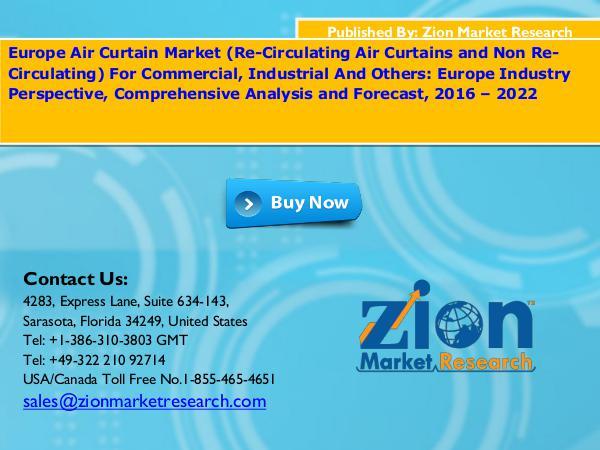 Europe Air Curtain Market, 2016 – 2022