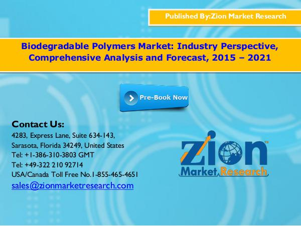 Biodegradable Polymers Market, 2015 - 2021
