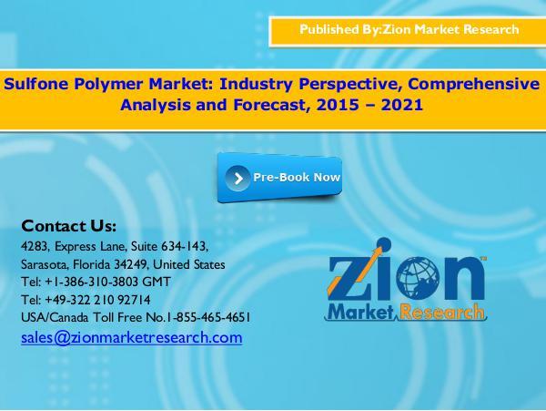 Sulfone Polymer Market, 2015 - 2021