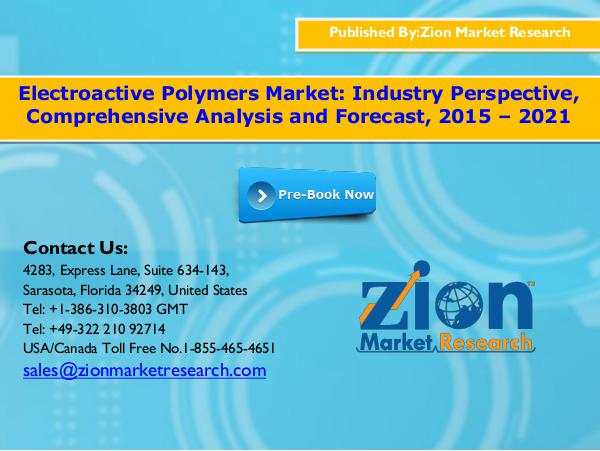 Zion Market Research Electroactive Polymers Market, 2015 - 2021