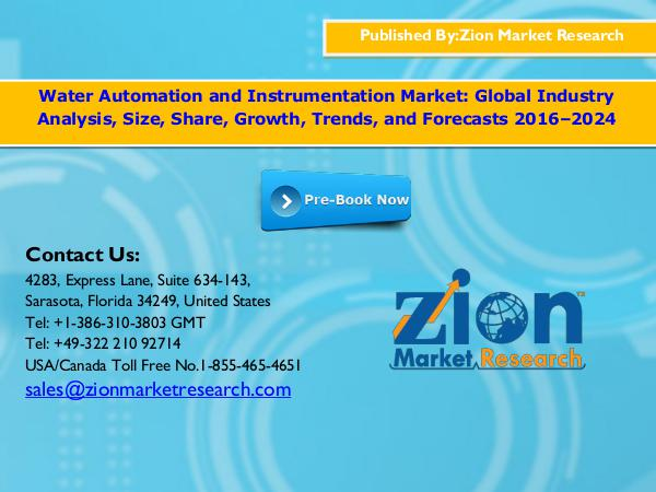 Water automation and instrumentation market, 2016