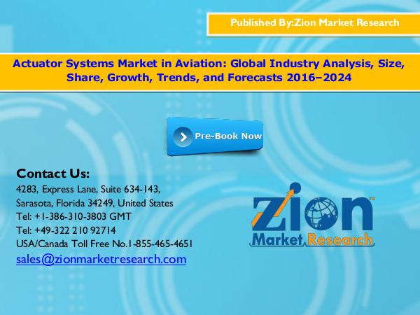 Zion Market Research Actuator systems market in aviation , 2016 -  2024
