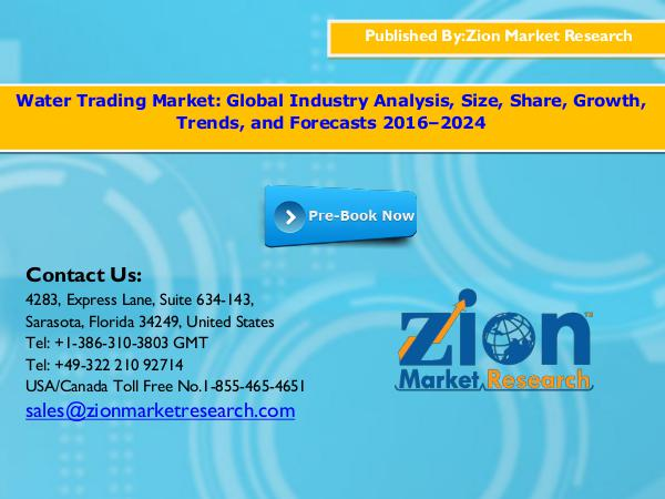 Zion Market Research Water Trading Market, 2016-2024