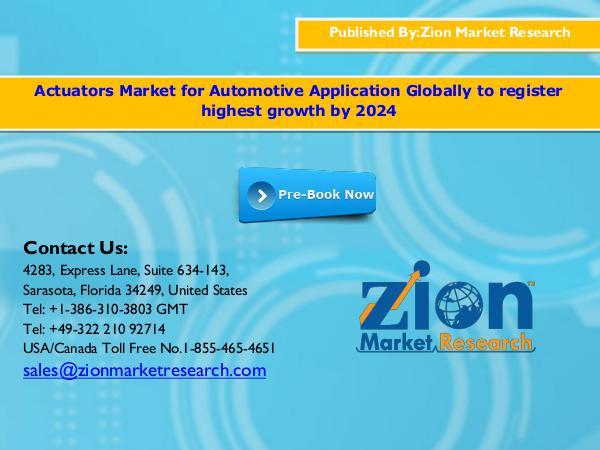 Actuators Market, 2016 - 2024