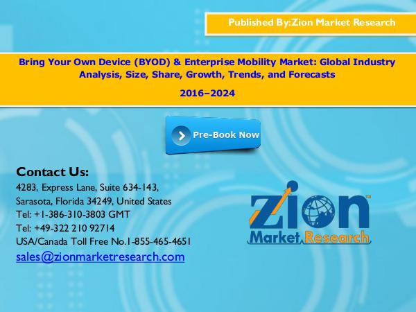 Zion Market Research Bring Your Own Device (BYOD) & Enterprise Mobility